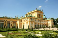 Wilanow Palace in Warsaw, Poland Royalty Free Stock Photos
