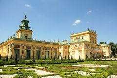 Wilanow Palace in Warsaw, Poland Stock Image