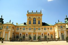 Wilanow Palace in Warsaw, Poland. Royal palace in the Wilanow district of Warsaw, the capital of Poland. Wilanów Palace was built for king John III Sobieski in stock images