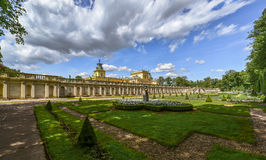 Wilanow Palast in Warschau, Polen Stockbilder