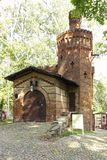 Wilanow Park. Brick Tower. Warsaw. Poland. Stock Photo