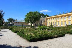 Wilanow Royal Palace i ogród, Polska obrazy royalty free