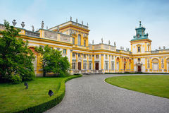 Wilanow - Royal Palace in Warsaw. Front (west-side) of the Royal Castle (17th century) built for the Polish king John III Sobieski, residence of the Polish Royalty Free Stock Images