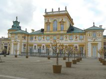 Wilanow Royal Palace, Warshau Polen - details Royalty-vrije Stock Foto