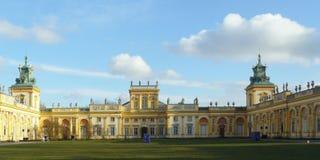 Wilanow Royal Palace, Warszawski Polska - szczegóły Zdjęcie Stock