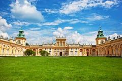 Wilanow slott i Warszawa, Polen fotografering för bildbyråer