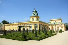 wilanow Warsaw pałacu Poland Fotografia Stock
