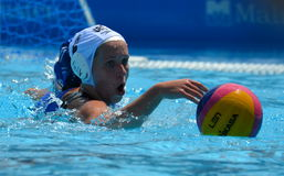 WILCOX Chloe (GBR, 2) fighting for the ball. Royalty Free Stock Images