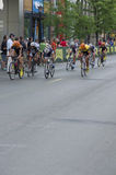 Wilcoxson Races to Win in Uptown Criterium Stock Image