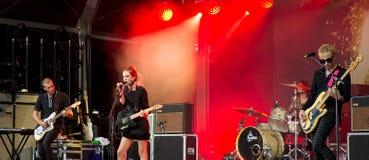 Wilczy Alice w koncercie przy Rockowym En wontonu festiwalem (zespół) Zdjęcie Royalty Free