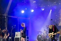 Wilczy Alice zespół w koncercie przy Rockowym En wontonu festiwalem Fotografia Royalty Free