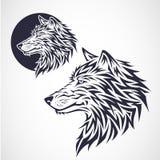 Wilczy emblemat Obraz Royalty Free