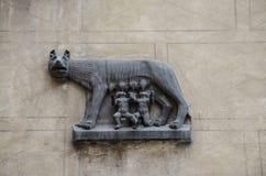 Wilczy symbol Rzym Fotografia Stock