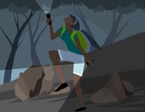 Wild adventure scene vector Stock Photo