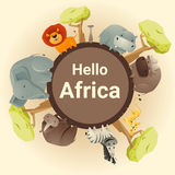 Wild African animal background Royalty Free Stock Photo