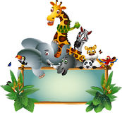Wild African animal cartoon Royalty Free Stock Images
