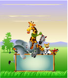 Wild African animal cartoon Royalty Free Stock Photos