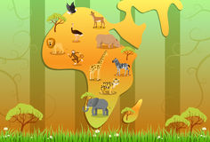 Wild Afrika! Stock Foto's