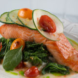 Wild Alaskan Salmon Stock Photo