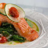 Wild Alaskan Salmon Stock Photography