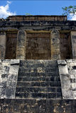 A wild angle of the chichen itza   in tulum mexico Royalty Free Stock Photo