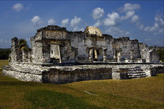 A wild angle of the tulum  in  mexico america Stock Photos