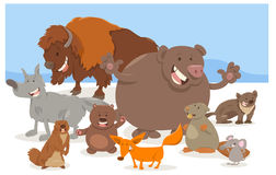 Wild animal characters cartoon Royalty Free Stock Images