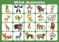 Wild animal chart Royalty Free Stock Photo
