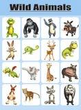 Wild animal chart Royalty Free Stock Image