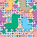 Wild animal cute love vertical seamless pattern Royalty Free Stock Image