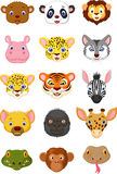 Wild animal head cartoon collection 1 Stock Photography
