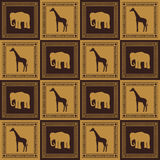 Wild animal seamless pattern Stock Images