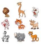 Wild Animal Set. Illustrator design .eps 10 Stock Photography