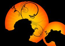 Wild animal silhouette Royalty Free Stock Photos