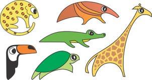 Wild Animal Vector. Wild Animal Cartoon Illustration Series 1 Royalty Free Stock Photo