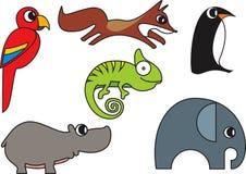 Wild Animal Vector. Wild Animal Cartoon Illustration Series 2 Stock Photo