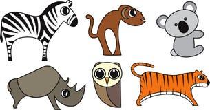 Wild Animal Vector. Wild Animal Cartoon Illustration Series 3 Stock Photo