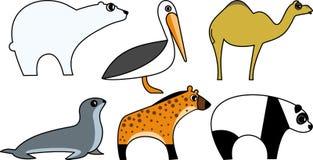 Wild Animal Vector. Wild Animal Cartoon Illustration Series 5 Stock Photos