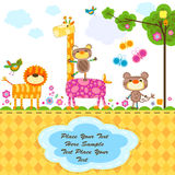 Wild animals. Greeting card background Stock Image