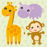 Wild animals stock illustration