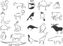Wild Animals. 20 themed EPS images related to wild animals. The number of vector nodes is absolute minimum. The images are very easy to use and edit and are vector illustration