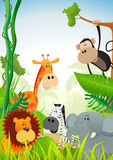 Wild Animals Background Royalty Free Stock Photography