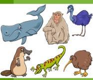 Wild animals cartoon set illustration Royalty Free Stock Photos