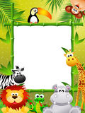 Wild animals cartoon Stock Photo