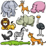Wild animals cartoons Stock Image