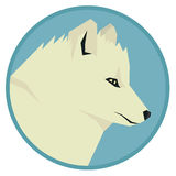 Wild animals collection Head of Polar Fox Geometric style icon r Royalty Free Stock Photography