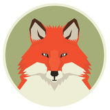 Wild animals collection Head of Red Fox Geometric style icon rou Royalty Free Stock Photo