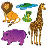 Wild animals collection 01. Vector illustration royalty free illustration