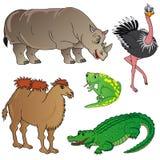 Wild animals collection 02. Vector illustration Stock Photo