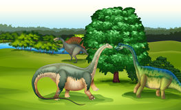 Wild animals in the forest royalty free illustration